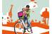bobike Exclusive mini Barnesæde til cykel beige/hvid